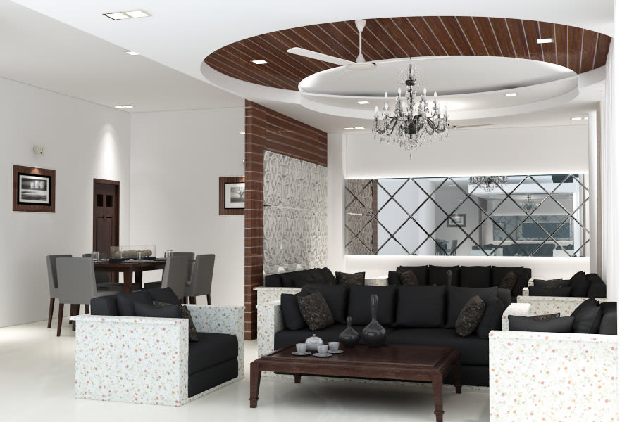 3D design of a living room by SA Design Group Living-room Contemporary | Interior Design Photos & Ideas