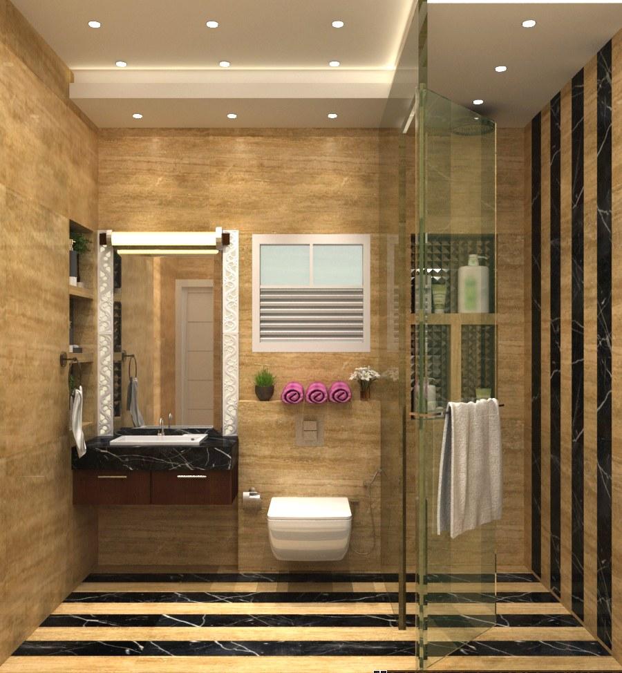 3D design of a modern bathroom by SA Design Group Bathroom Modern | Interior Design Photos & Ideas