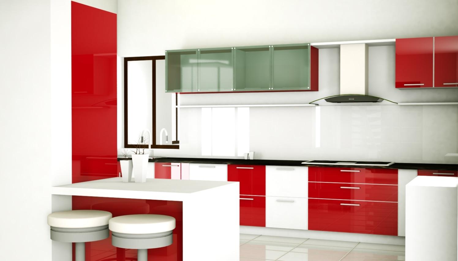 Peninsular Modular Kitchen by entrepreneur Modular-kitchen Modern | Interior Design Photos & Ideas