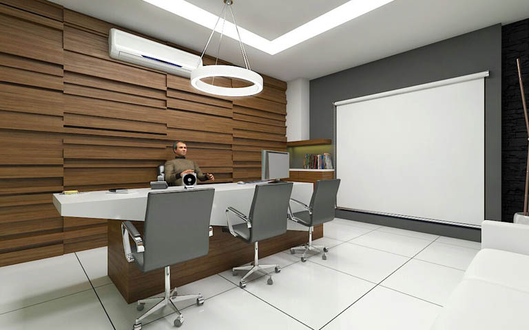The Office Area by I-DESIGNS Modern | Interior Design Photos & Ideas