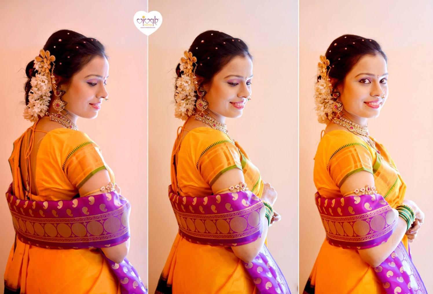 Yellow saree by VIVAH PHOTOS Wedding-photography   Weddings Photos & Ideas