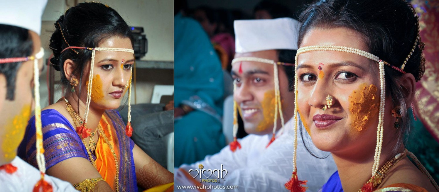 Haldi on her cheeks by VIVAH PHOTOS Wedding-photography | Weddings Photos & Ideas