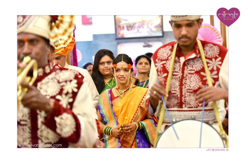 Bride glowing among the crowd by VIVAH PHOTOS Wedding-photography | Weddings Photos & Ideas