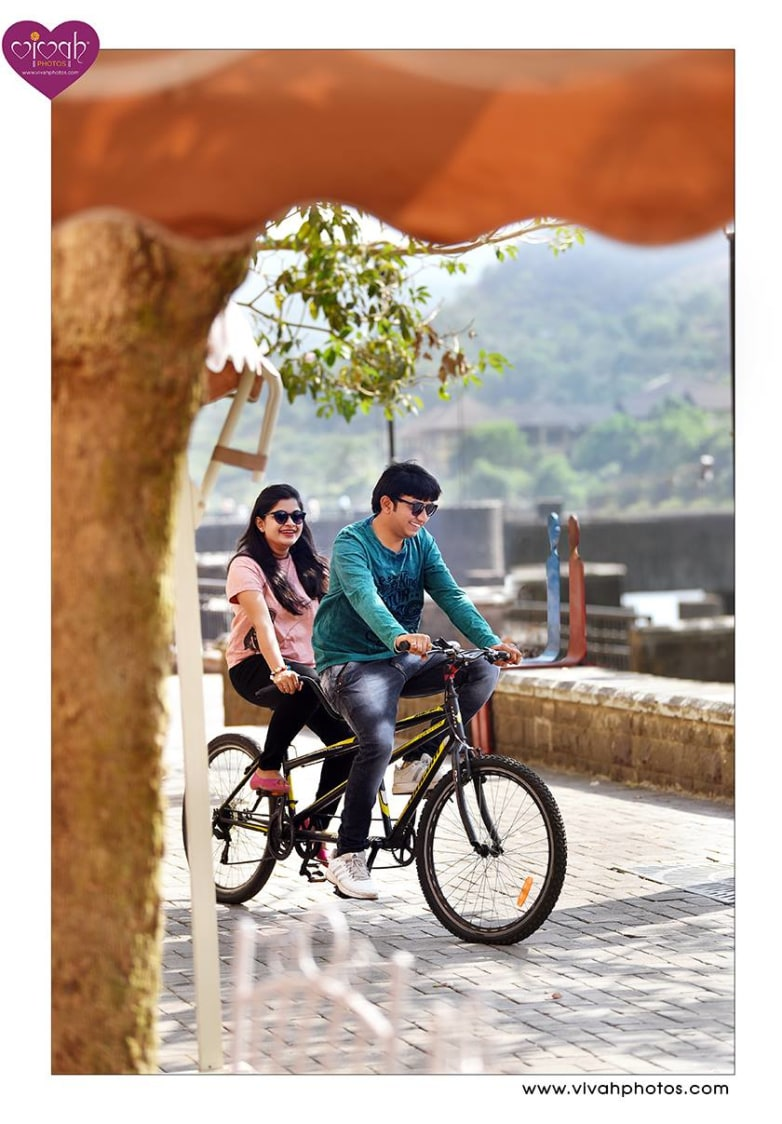 Going for a cycle ride by VIVAH PHOTOS Wedding-photography | Weddings Photos & Ideas