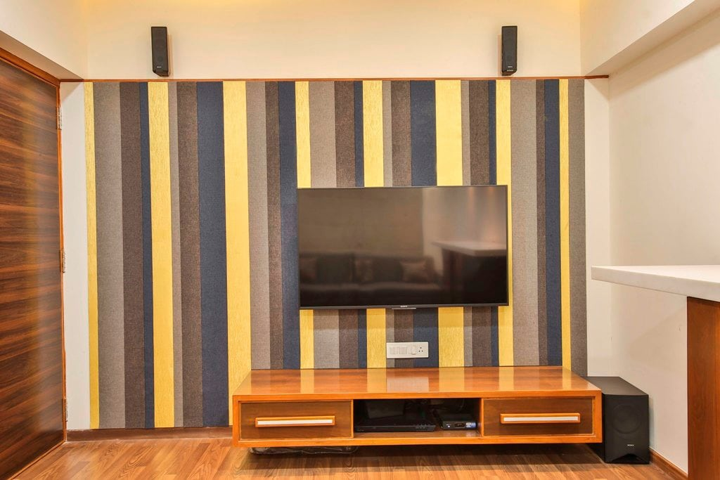 The Tv Unit by Ignitus Architectural Studio Living-room Modern | Interior Design Photos & Ideas