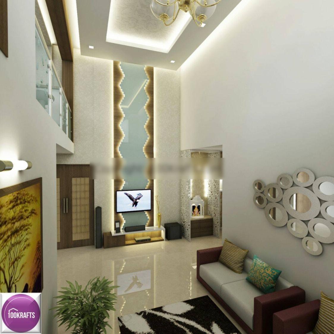 Modern Living Room with Artistic Decor by 100krafts Living-room Contemporary | Interior Design Photos & Ideas