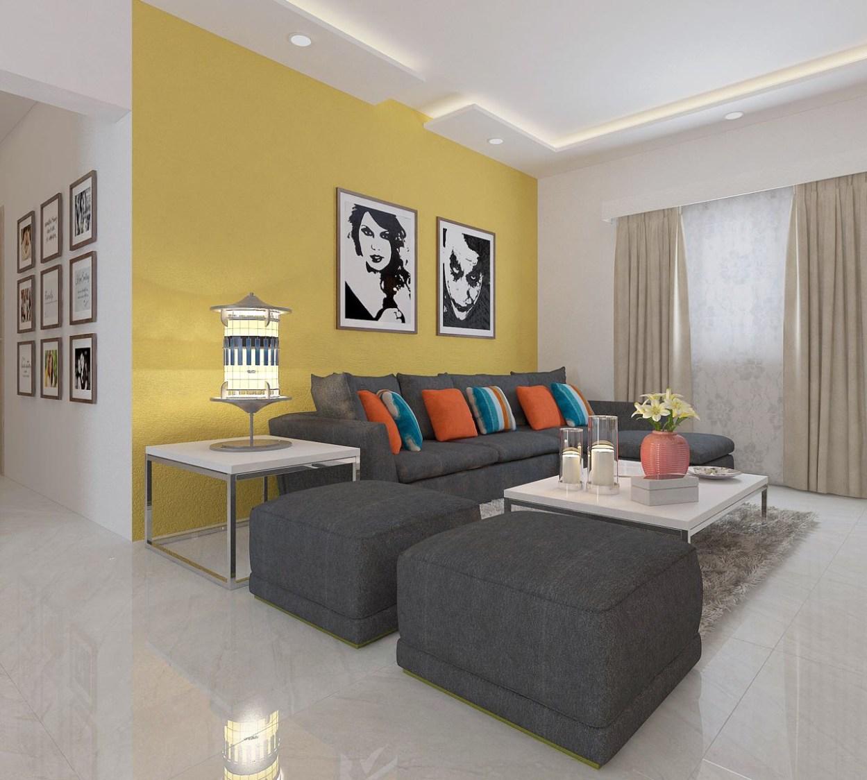 Modern Living Room with Elegant Decor by 100krafts Living-room Contemporary | Interior Design Photos & Ideas