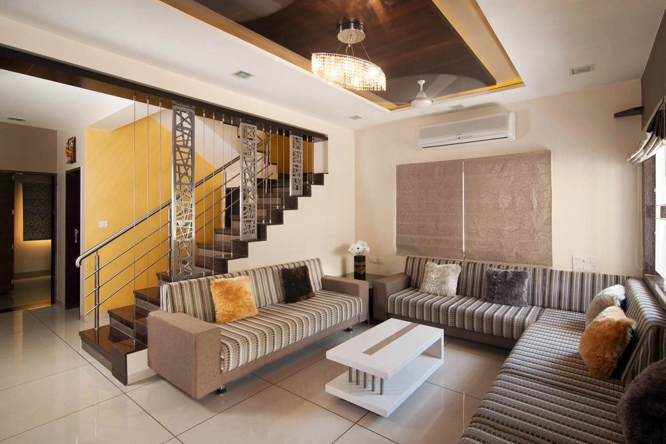 Living Room With Contemporary Sectional Sofas by Parthsarthi Living-room Modern | Interior Design Photos & Ideas