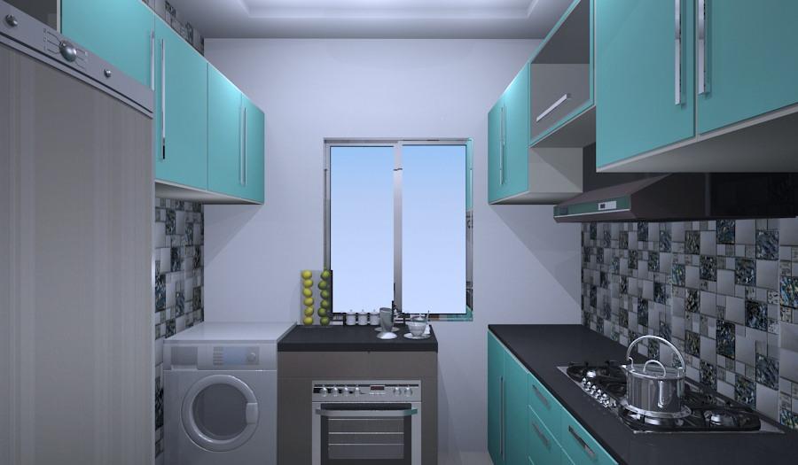 Blue Modular Kitchen by Vijay Modular-kitchen | Interior Design Photos & Ideas
