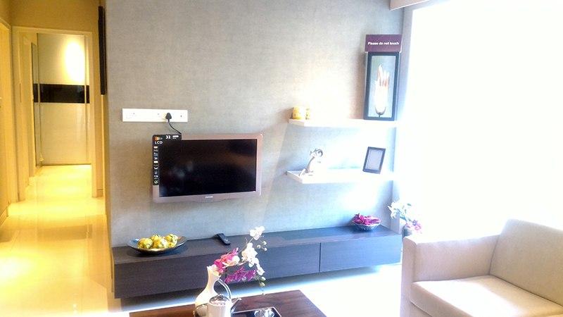 Grey Shaded Living Room by Vijay Living-room | Interior Design Photos & Ideas