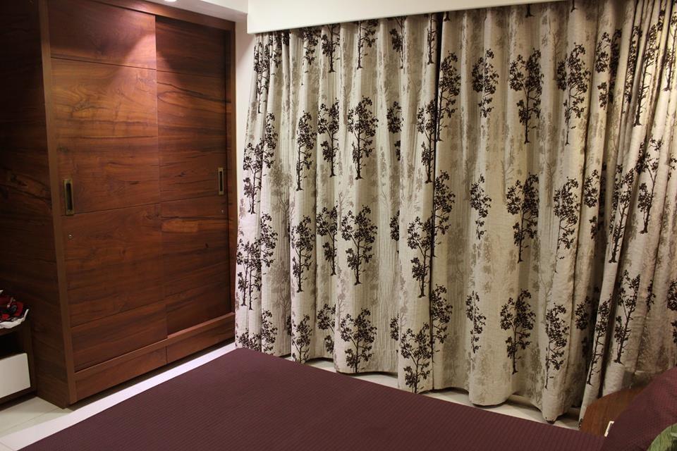 Beige Curtains In Vintage Bedroom by Vijay Bedroom Contemporary | Interior Design Photos & Ideas