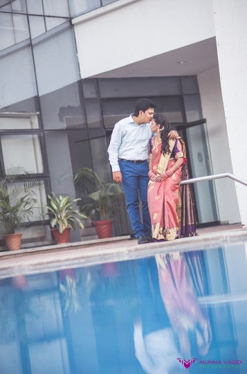 Beside pool! by Munna Vaddi Photography Wedding-photography | Weddings Photos & Ideas