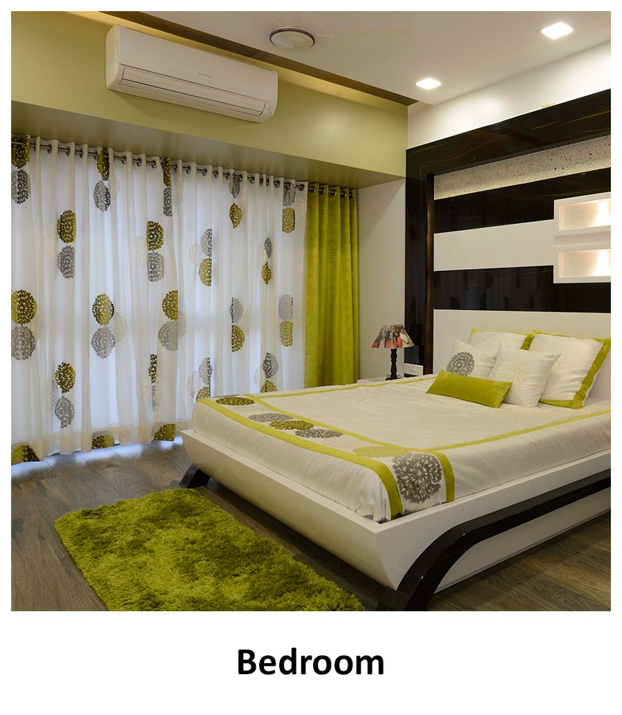 Green coloured bedroom! by Nibjiya Studio's  Bedroom | Interior Design Photos & Ideas