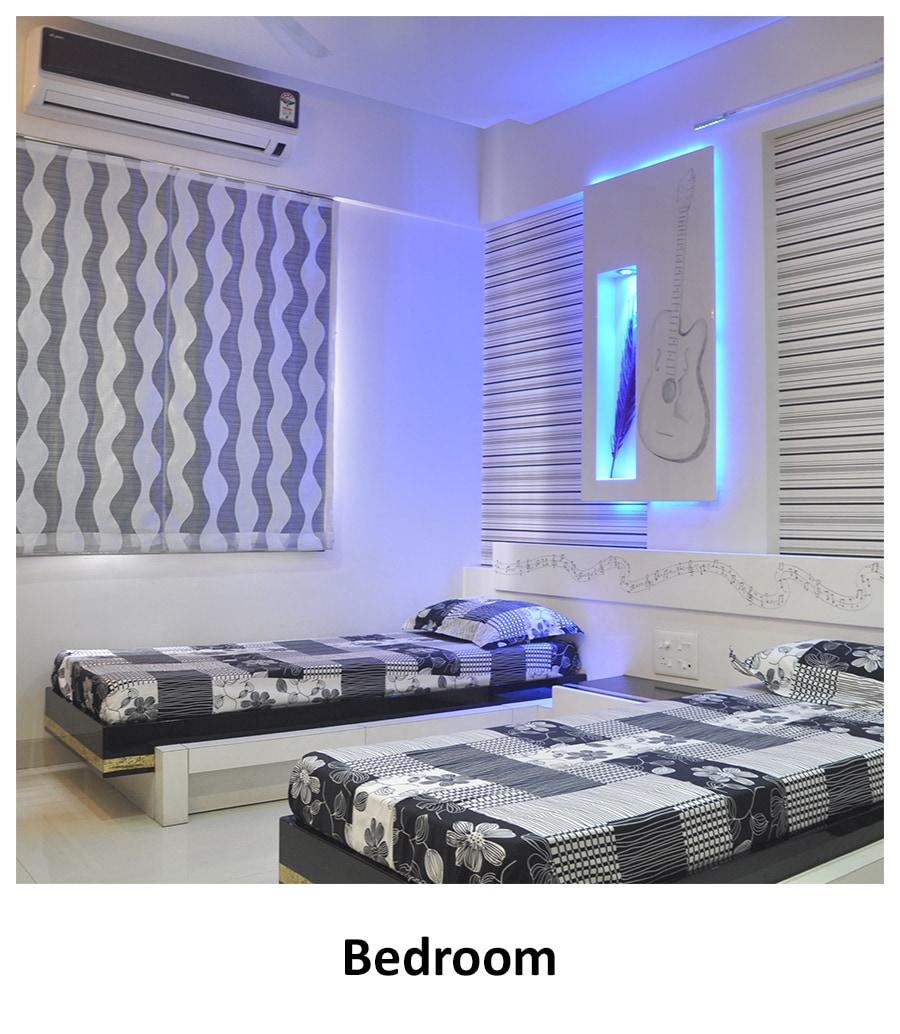 Guest Bedroom! by Nibjiya Studio's  Bedroom | Interior Design Photos & Ideas
