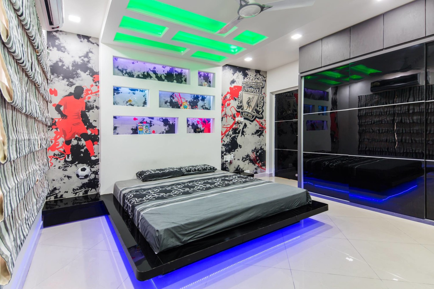 Sporty Themed Bedroom by Dessign7 Interiors Pvt Ltd. Contemporary | Interior Design Photos & Ideas