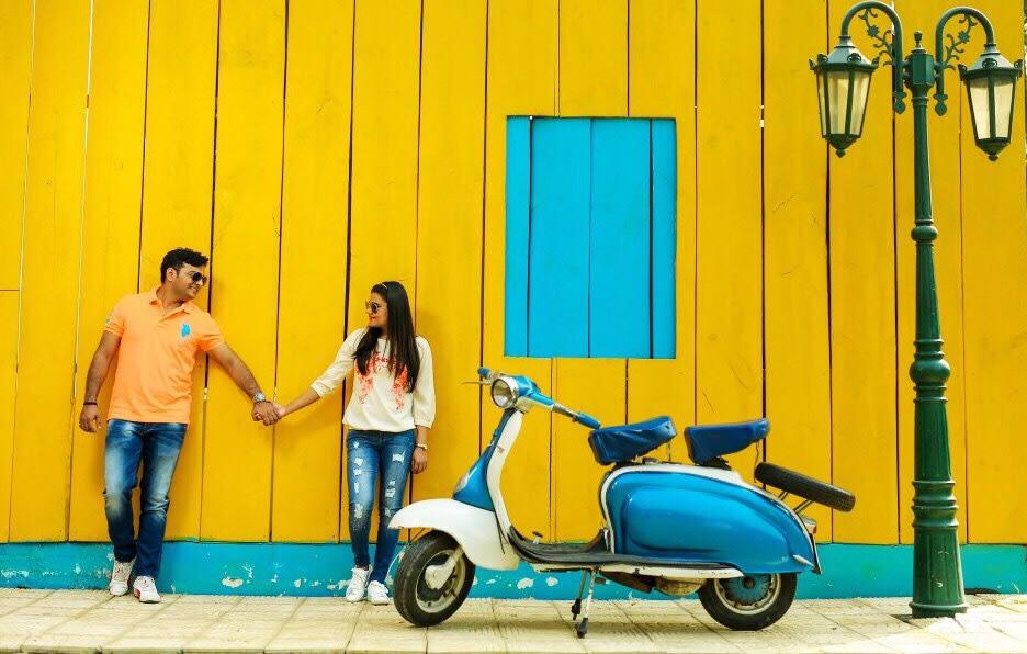 Big yellow wall! by Kamal Malhotra Studio Wedding-photography   Weddings Photos & Ideas