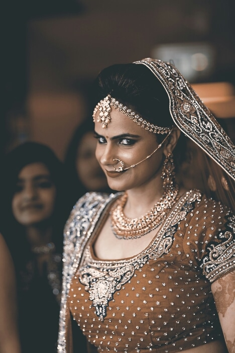 the bride pulling off a peppy expression by A Story Perhaps  Wedding-photography | Weddings Photos & Ideas