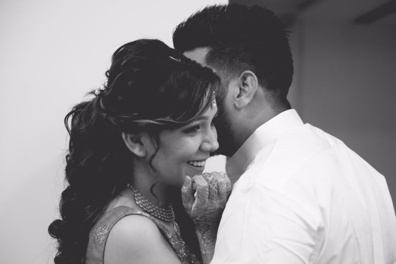 The couple sharing a cute moment by A Story Perhaps  Wedding-photography | Weddings Photos & Ideas