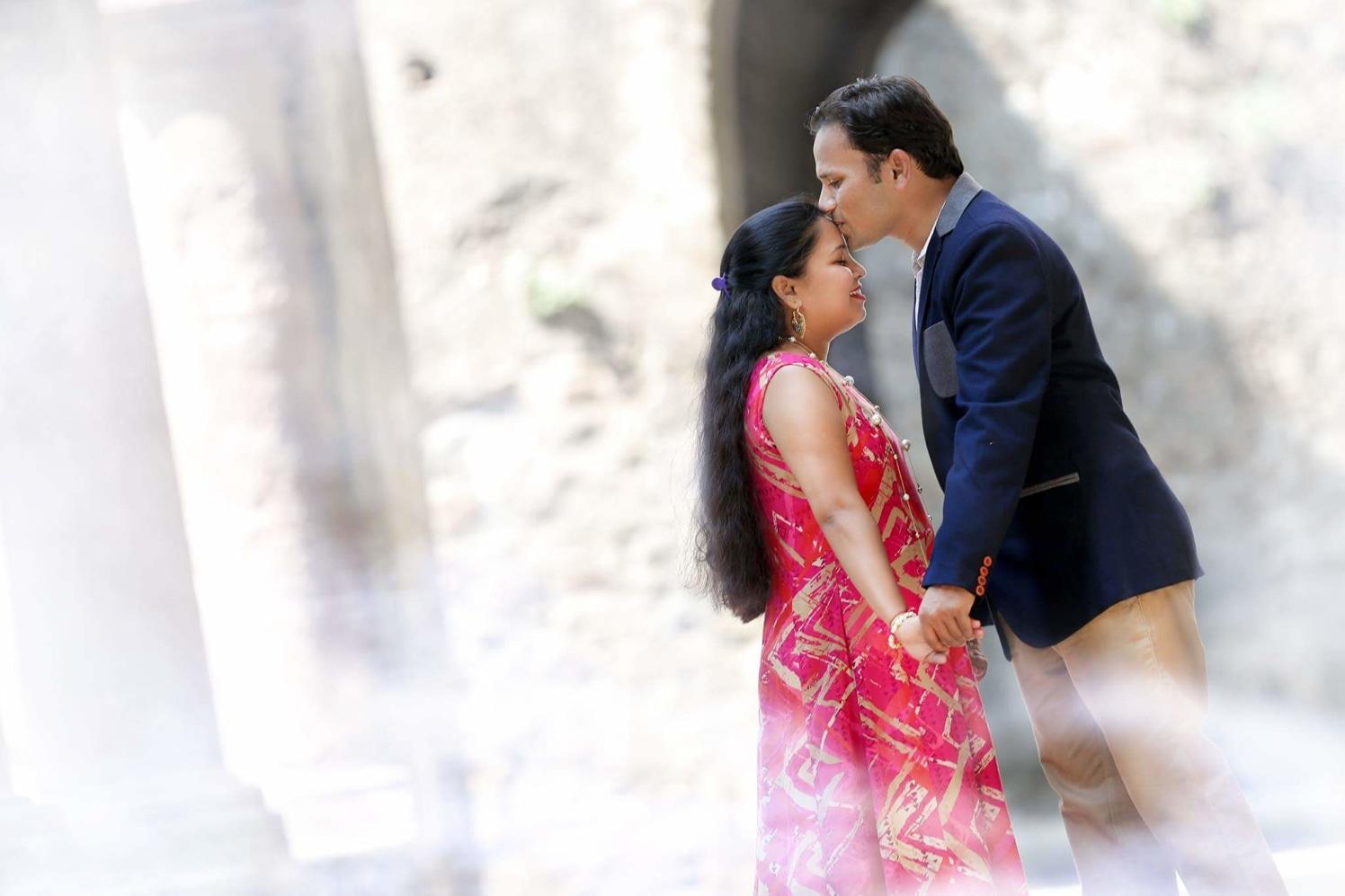 A sweet kiss on the forehead by Proffesional Photographer Wedding-photography | Weddings Photos & Ideas