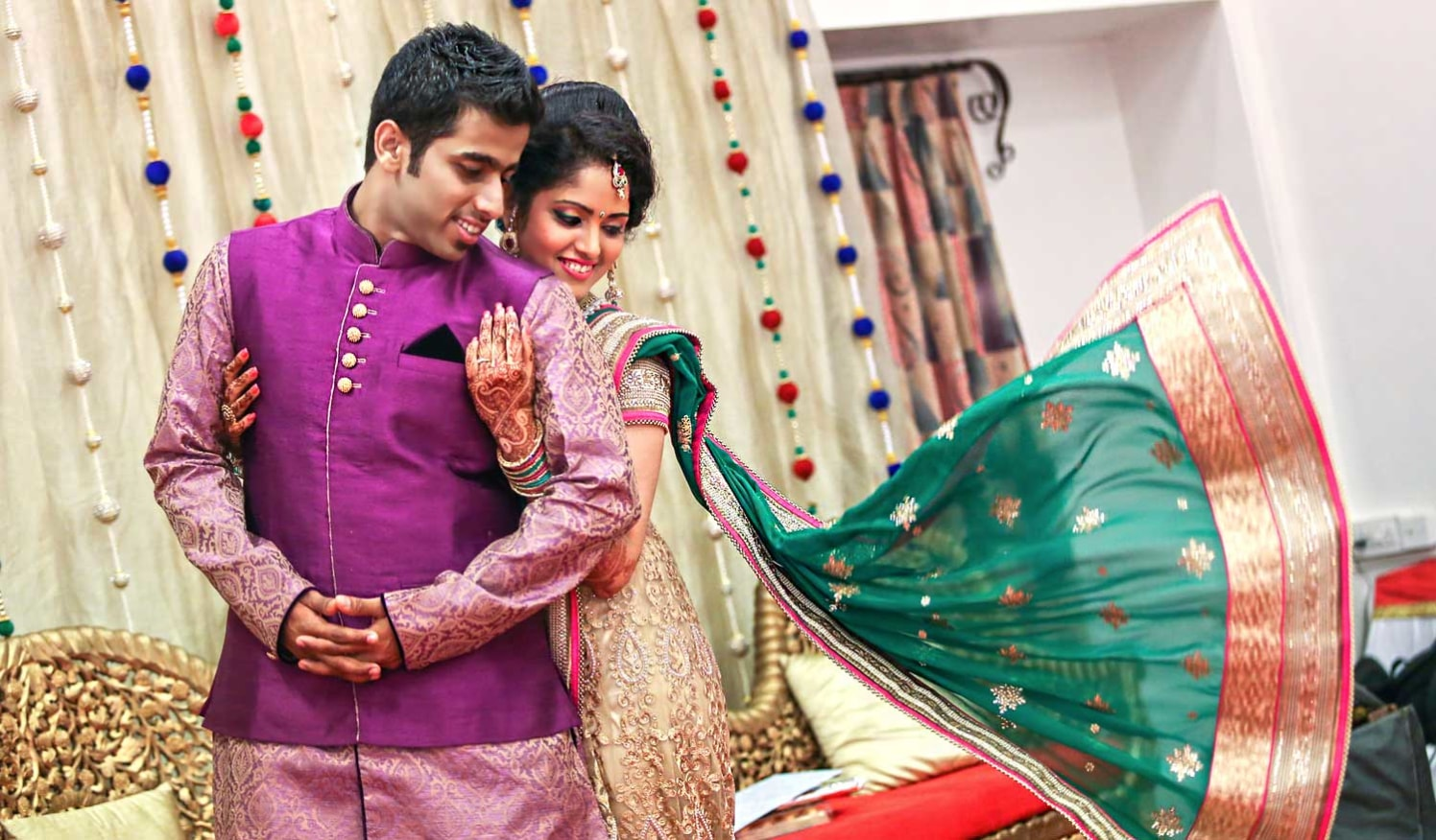 The wedding couple looking fabulous by Arya Arts Wedding-photography | Weddings Photos & Ideas