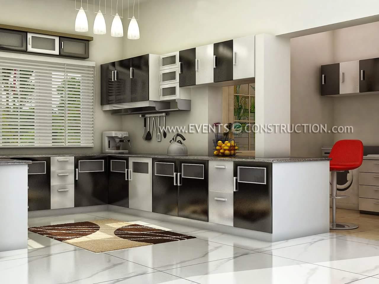 A modern modular kitchen.! by Makan interiors & decorators Modular-kitchen | Interior Design Photos & Ideas