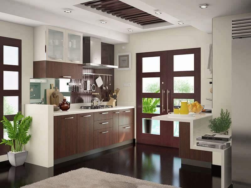 A basic kitchen! by Makan interiors & decorators Modular-kitchen   Interior Design Photos & Ideas
