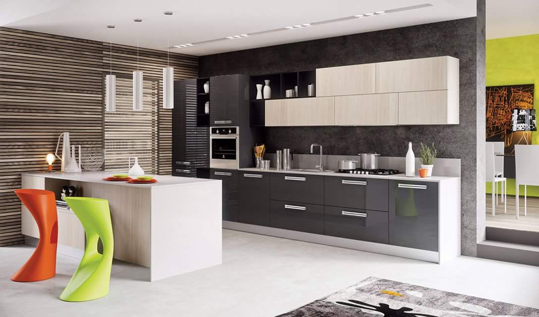 A modern modular kitchen! by Makan interiors & decorators Modular-kitchen | Interior Design Photos & Ideas