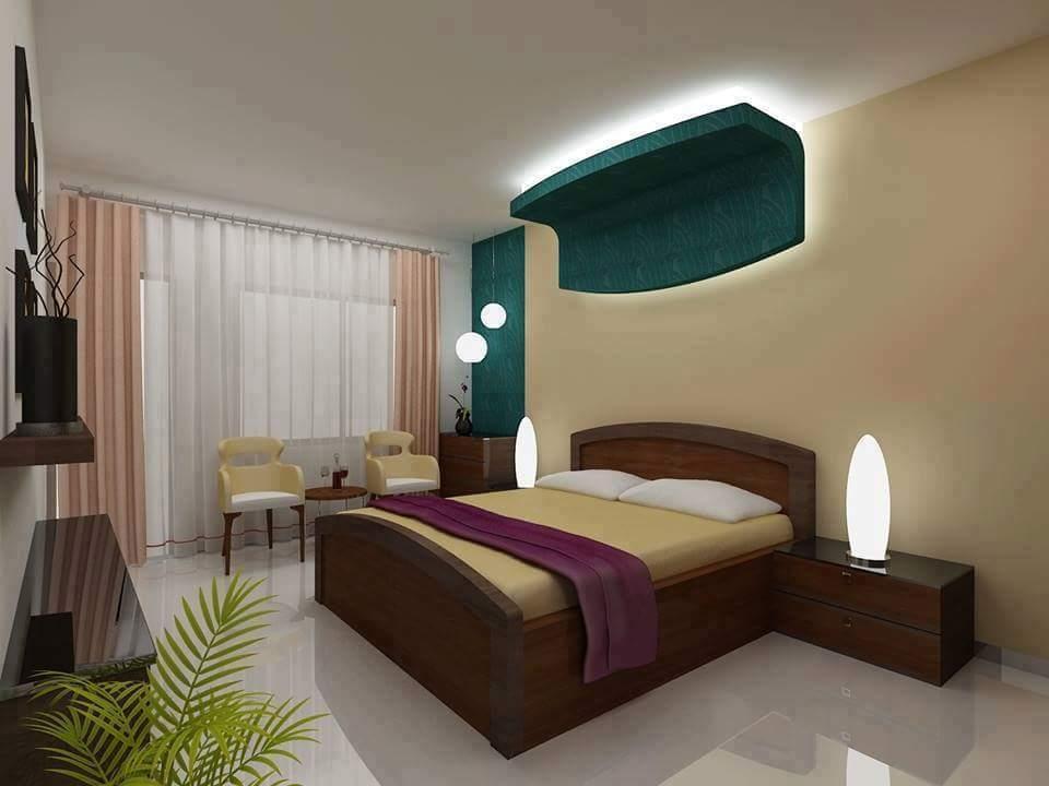 A beautiful bedroom design! by Makan interiors & decorators Bedroom | Interior Design Photos & Ideas