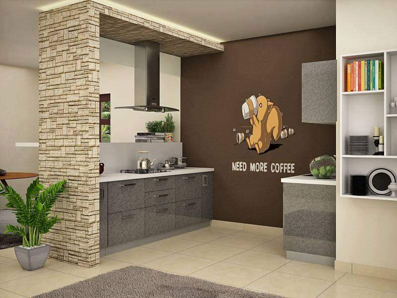 A simple kitchen! by Makan interiors & decorators Modular-kitchen | Interior Design Photos & Ideas