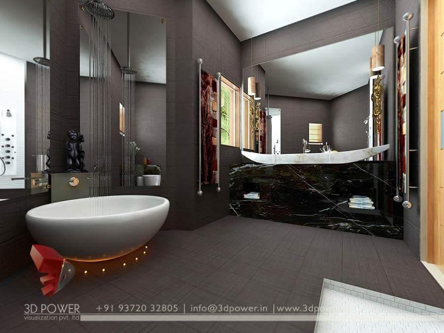 A exquisite bathroom! by Makan interiors & decorators Bathroom | Interior Design Photos & Ideas