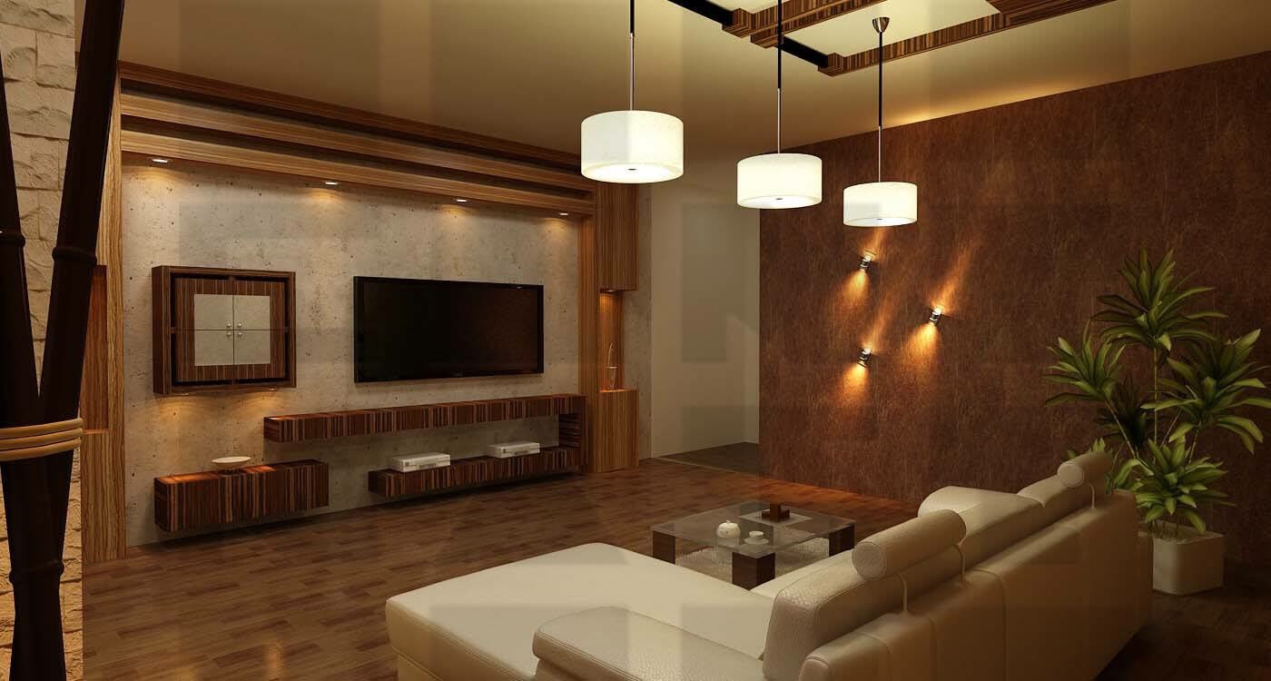 A wooden living room! by Pamin Patel Living-room   Interior Design Photos & Ideas