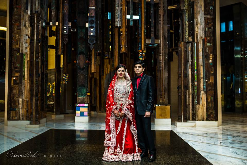 Red bridal lehnga! by Calvin Charles Studio Wedding-photography | Weddings Photos & Ideas
