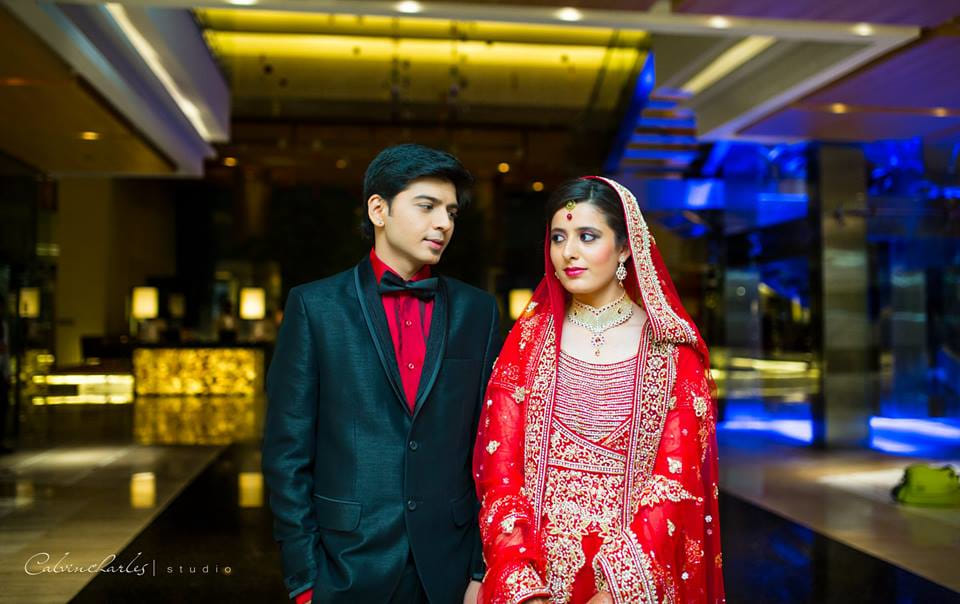 Red bridal lehenga! by Calvin Charles Studio Wedding-photography | Weddings Photos & Ideas