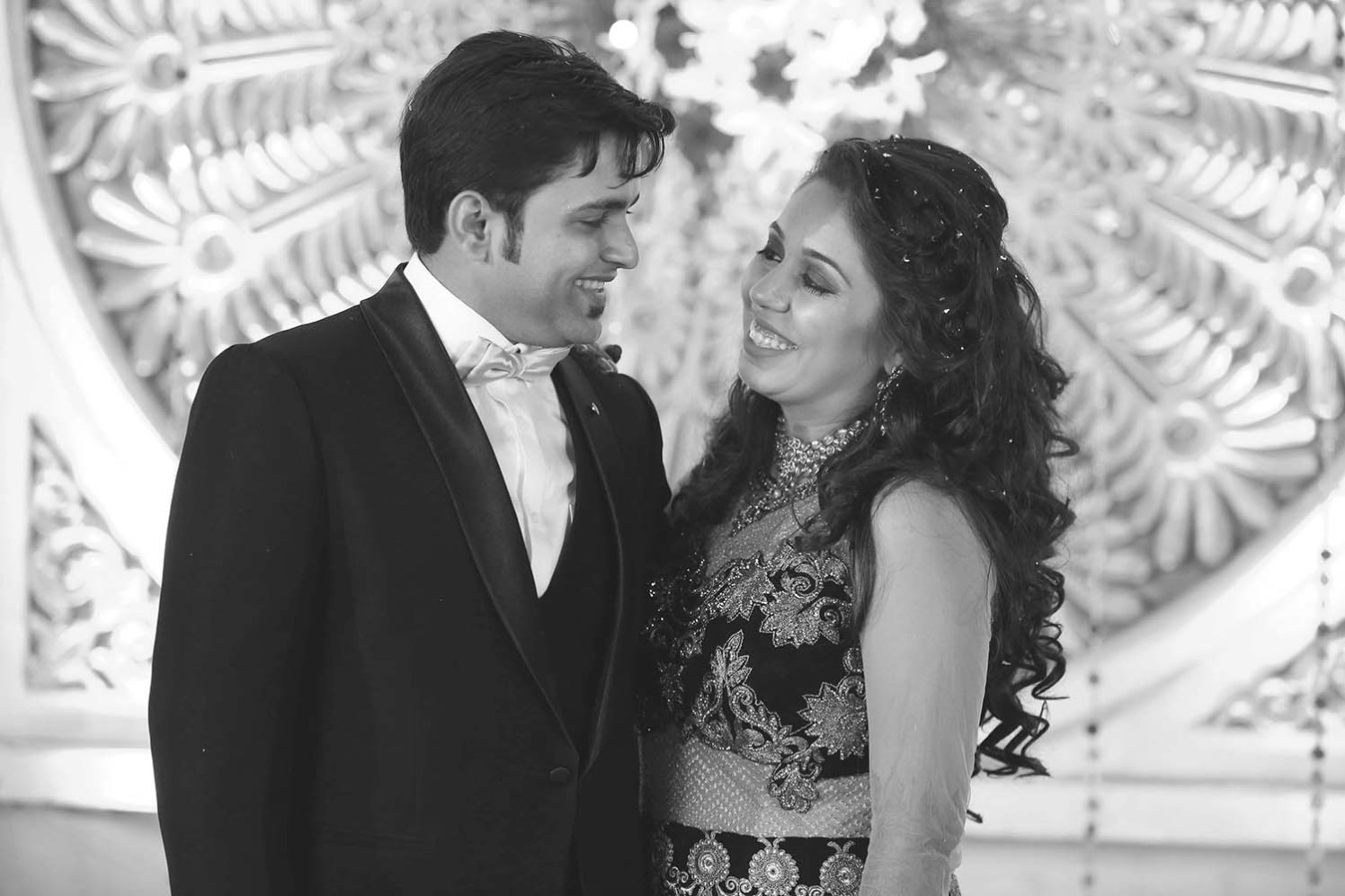 Bride and Groom During Rception by Karan Meghnani Photography Wedding-photography | Weddings Photos & Ideas