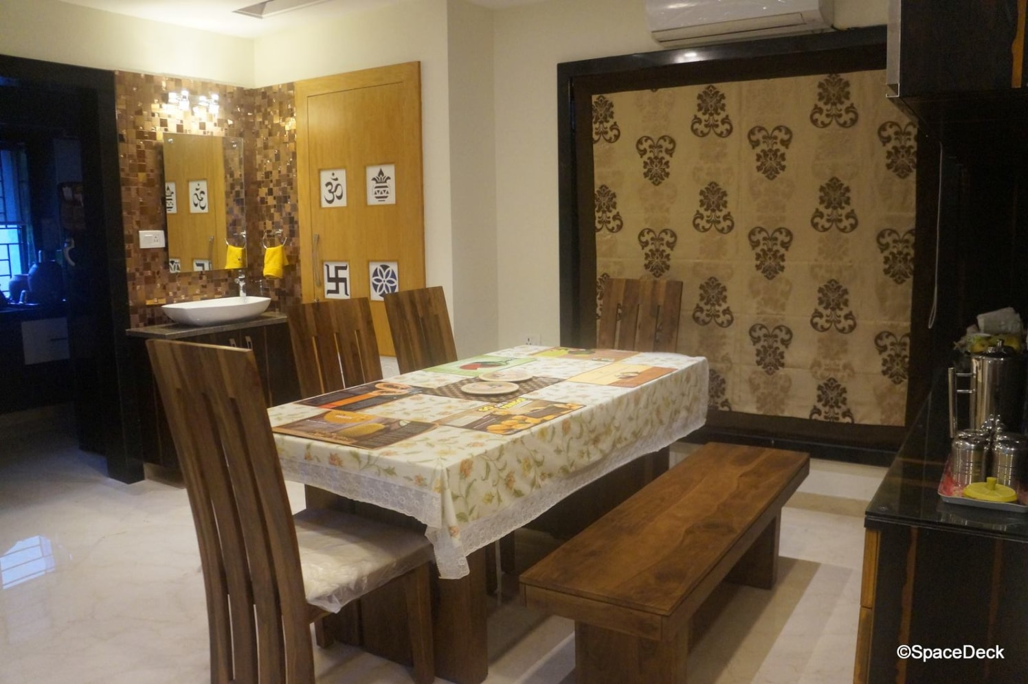 Wood Theme Dining Room With Walnut Brown Shaker Chairs by Rani Jetha Dining-room Modern | Interior Design Photos & Ideas