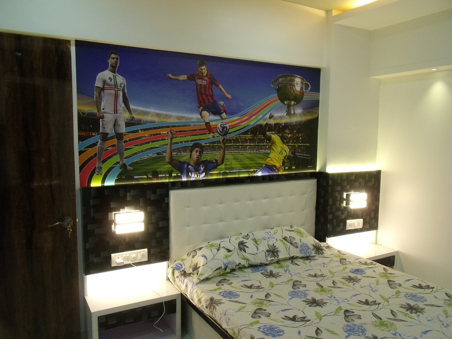 Bedroom With Sport Wall Art by Prashant Koli Bedroom Contemporary | Interior Design Photos & Ideas