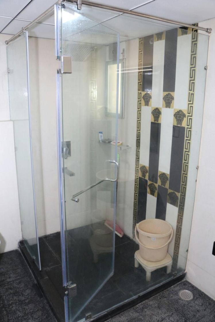 Bathroom With Glass Shower Stall by Abhinav Gupta Bathroom Modern | Interior Design Photos & Ideas