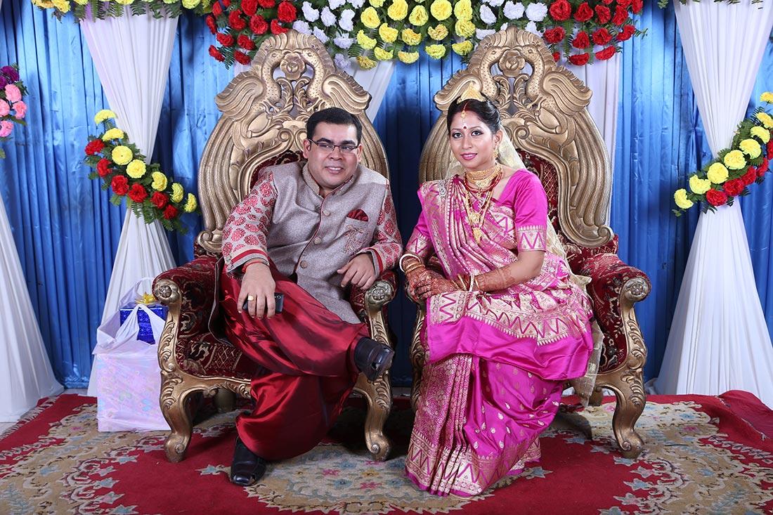 Bride wearing a pink saree! by BACKDROP Wedding-photography | Weddings Photos & Ideas