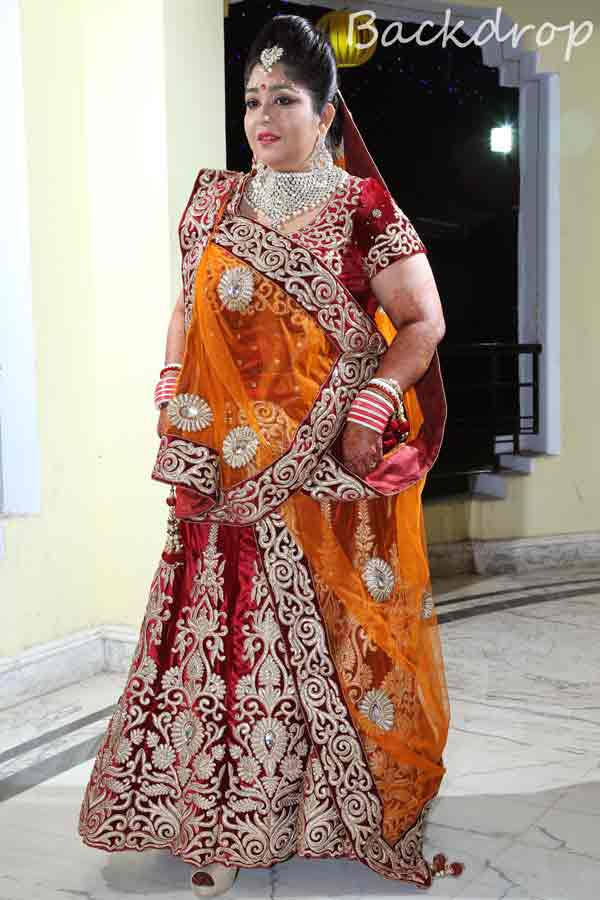 A bride in red and orange lehenga! by BACKDROP Wedding-photography | Weddings Photos & Ideas