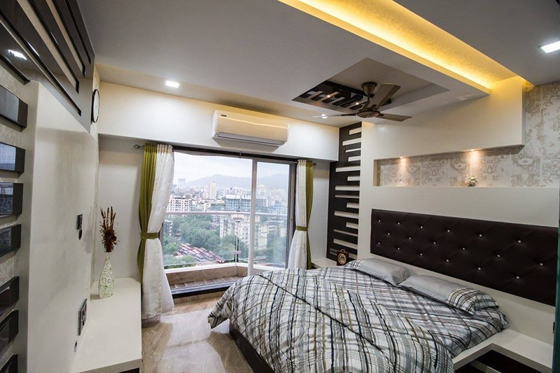 Bedroom With Marble Flooring by Ar. Sachin Vasant Salvi  Bedroom Modern | Interior Design Photos & Ideas