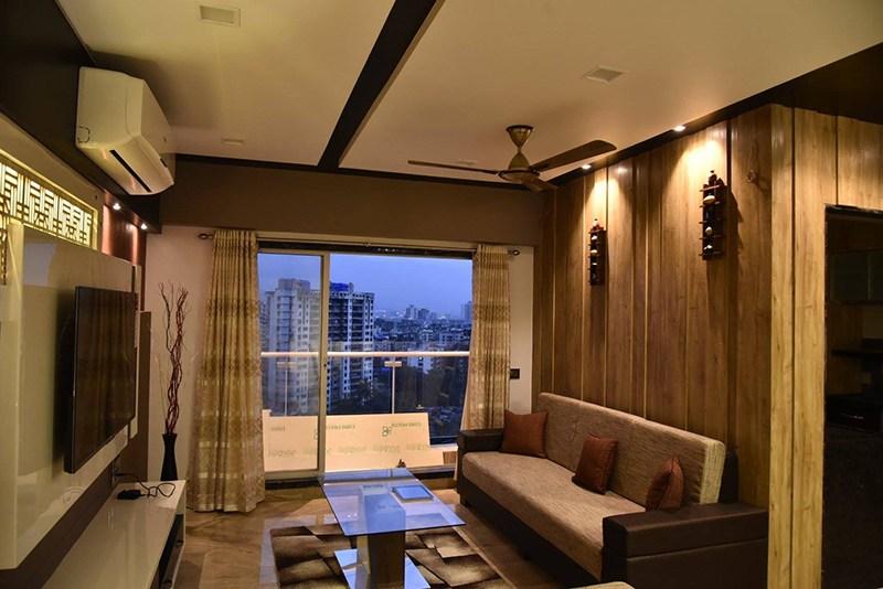 Living Room With Glass Top Center Table by Ar. Sachin Vasant Salvi  Living-room Contemporary | Interior Design Photos & Ideas