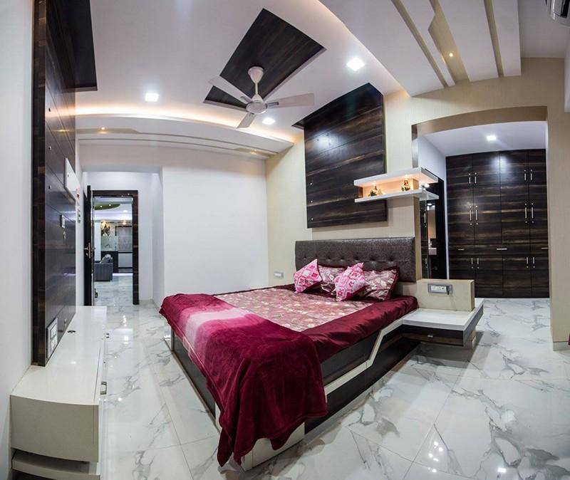 Bedroom With Marble Flooring by Ar. Sachin Vasant Salvi  Bedroom Contemporary | Interior Design Photos & Ideas