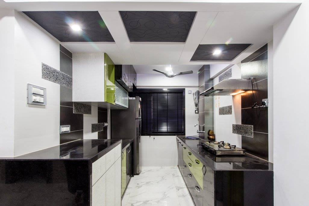 Modular kitchen With Wooden Cabinets by Ar. Sachin Vasant Salvi  Modular-kitchen Modern | Interior Design Photos & Ideas