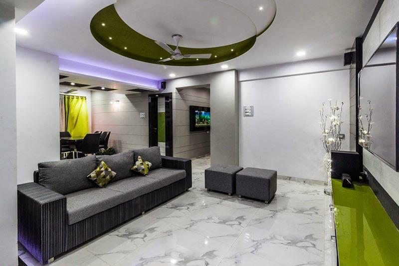 Living Room With Modern False Ceiling by Ar. Sachin Vasant Salvi  Living-room Contemporary | Interior Design Photos & Ideas