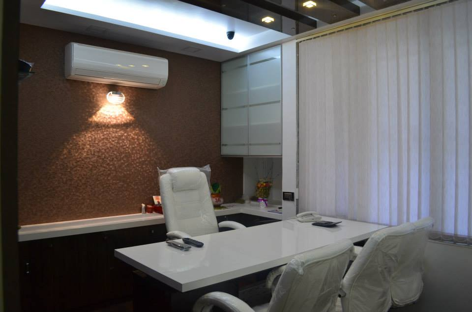Meeting Room With White Chairs by Ar. Sachin Vasant Salvi  Contemporary | Interior Design Photos & Ideas