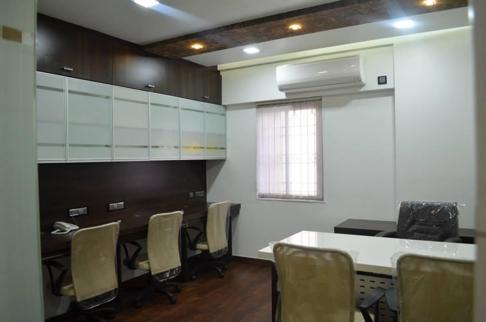 Office With Wooden Flooring by Ar. Sachin Vasant Salvi  Contemporary | Interior Design Photos & Ideas