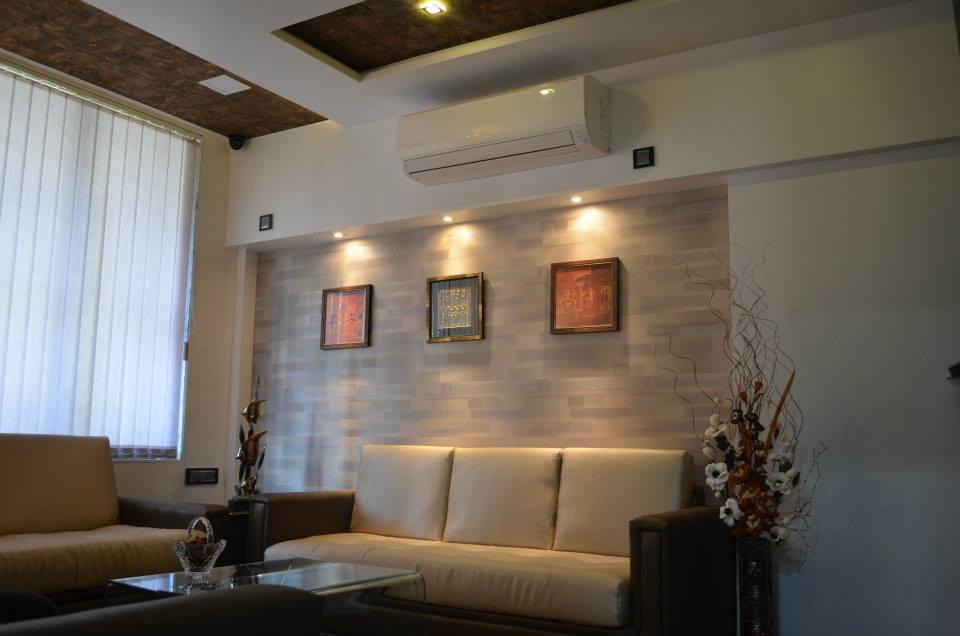 Living Room With Wall Art by Ar. Sachin Vasant Salvi  Living-room Contemporary | Interior Design Photos & Ideas