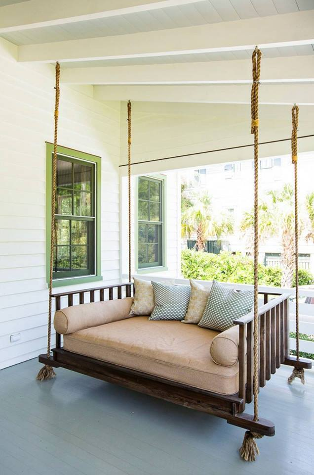 Veranda With Peaceful Porch Swings by The Work-Worm Architects Open-spaces Contemporary | Interior Design Photos & Ideas