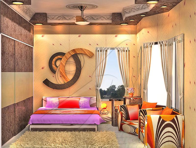 A colorful bedroom! by Pegasus Interiors  Bedroom   Interior Design Photos & Ideas