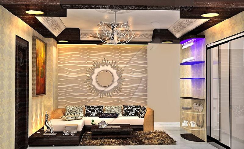 A golden living room! by Pegasus Interiors  Living-room   Interior Design Photos & Ideas